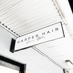 HARPER HAIR / branding on signage