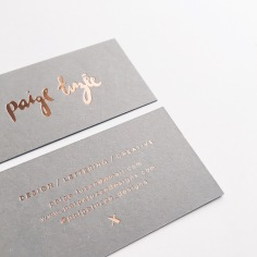 PAIGE TUZEE / rose gold foil on grey