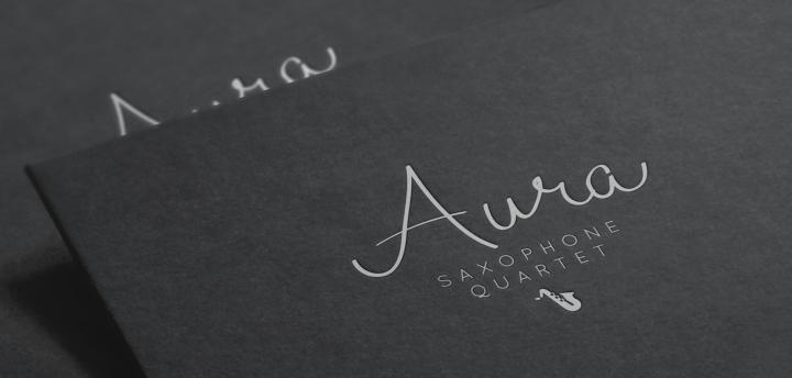 logo letterpressed on black