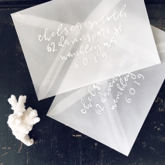 ENVELOPES / white on vellum