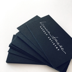 BIANCA TUZEE / branding in matte silver foil on black
