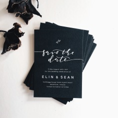 ELIN & SEAN / white on black