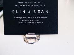 ELIN & SEAN / white on black
