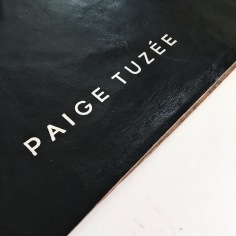 PAIGE TUZEE / silver foil on leather