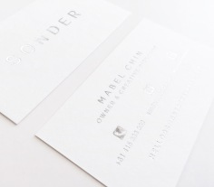 SONDER / silver foil on white
