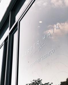 HARPER HAIR / branding on signage