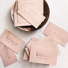 KATINA Z / branding in rose gold on blush