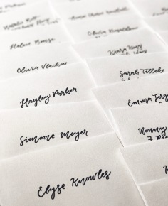 TP & CO / hand lettered envelopes