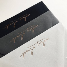 PAIGE TUZEE / branded envelopes