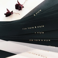 THE HARE & STYLE / gold foiled black vellum bands