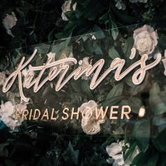 KATERINA'S BRIDAL SHOWER / typography by me, signage @sketchandetchcreative, photography @jp_evermore, florals @melbourneeventflorals
