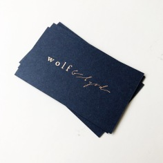 WOLF & BYRD / rose gold foil on navy