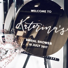 KATERINA'S BRIDAL SHOWER / typography by me, signage @sketchandetchcreative, photography @jp_evermore