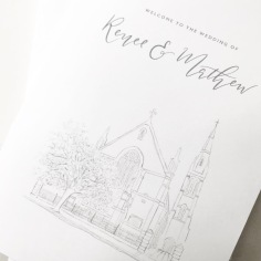 RENEE & MATHEW / custom church illustration for church booklets