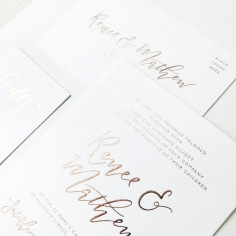 RENEE & MATHEW / rose gold on white