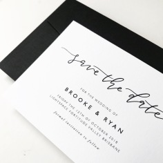 BROOKE & RYAN / black on white save the dates