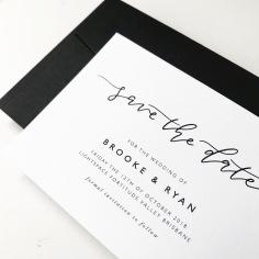 BROOKE & RYAN / black on white save the dates