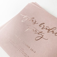 TYLA'S BRIDAL SHOWER / rose gold foil on blush