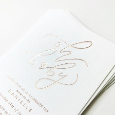 DANIELLE'S BABY SHOWER / rose gold foil on white