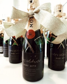 MUM'S 60TH / custom moet labels