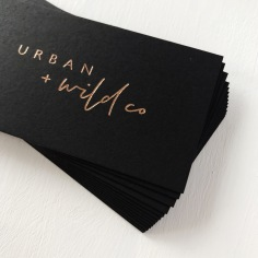 URBAN + WILD CO BRANDING / rose gold on black