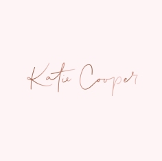 KATIE COOPER BRANDING / rose gold on pale pink