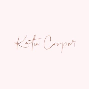 KATIE COOPER BRANDING / rose gold on pale pink