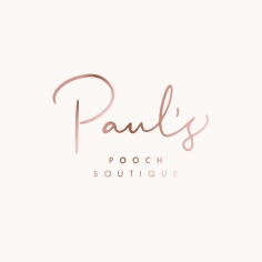PAUL'S POOCH BOUTIQUE / branding in rose gold
