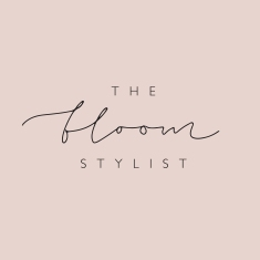 THE BLOOM STYLIST BRANDING / black on blush