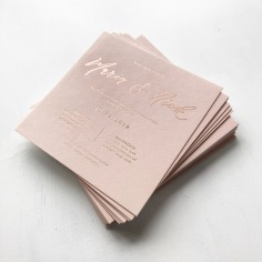 MARIA & NICK / rose gold foil on blush