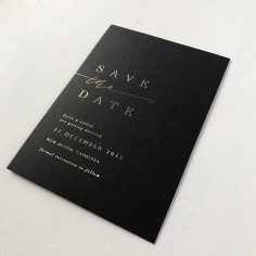 ELISE & DAVID / gold foil on black