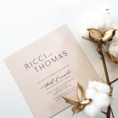 RICCI & THOMAS / black on pale pink