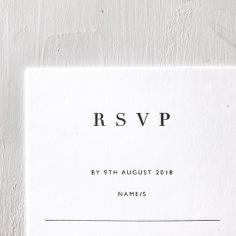 MADELEINE & DAMIEN / black letterpress on white
