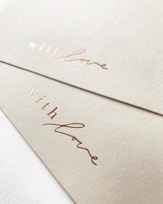 PAIGE TUZEE / with love cards in rose gold and nude