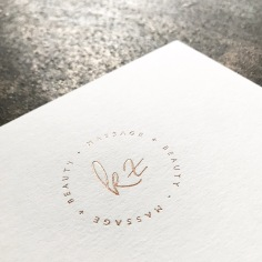 KATINA Z / branding in rose gold