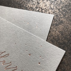 ERICA & HARRISON / rose gold foil stars on grey