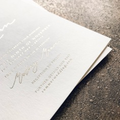 KRYSTIN & RYAN / gold foil on ivory