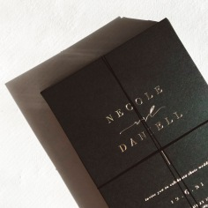 NECOLE & DANIEL / gold foil on black