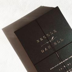 NECOLE & DANIEL / gold foil on black