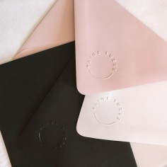 PAIGE TUZEE / embossed envelopes