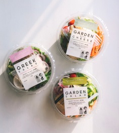 GOURMET SELECTIONS / salad bowl and bag label designs