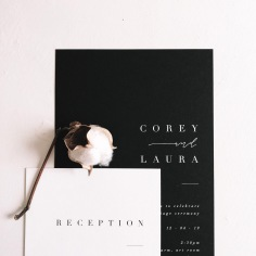 COREY & LAURA / white ink on black
