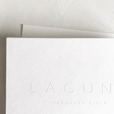 LACUNA / branding and blind emboss thank you cards