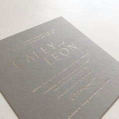 CALEY & LEON / gold foil on grey
