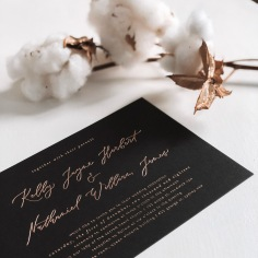 KELLY & NATHANIEL / rose gold on black