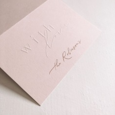 THE ROBINSONS / thank you cards with embossed 'with love' and rose gold foil
