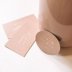 RUSH ORDER BRIDE / stickers and business cards in rose gold and blush