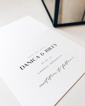 DANICA & RILEY / save the dates in black and white