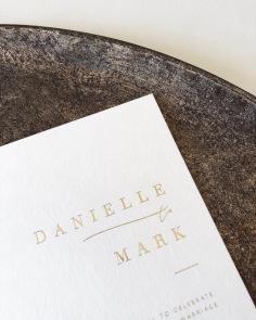 DANIELLE & MARK / gold foil on cotton