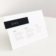 ZOE & KYLE / menus